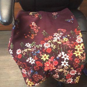 Floral print pencil skirt